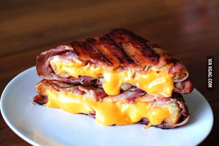 A Bacon Wrapped Grilled Cheese Sandwich