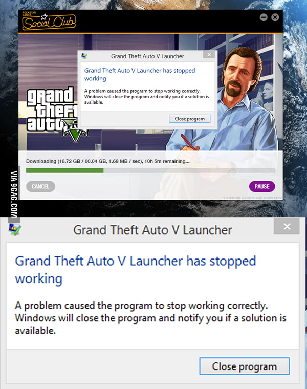I left my PC on all night to download GTA V, and woke up to this