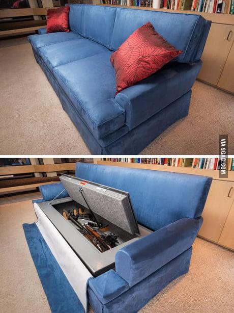 Bulletproof Couch Gun Safe Combo 9gag