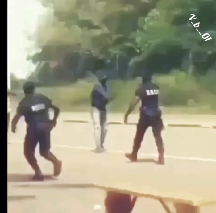 Let me just wave this machete at a cop
