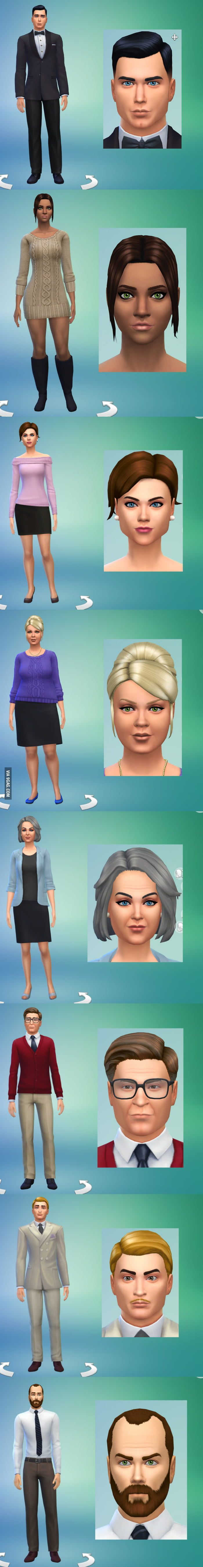 archer cast done in the sims 4 character creator 9gag