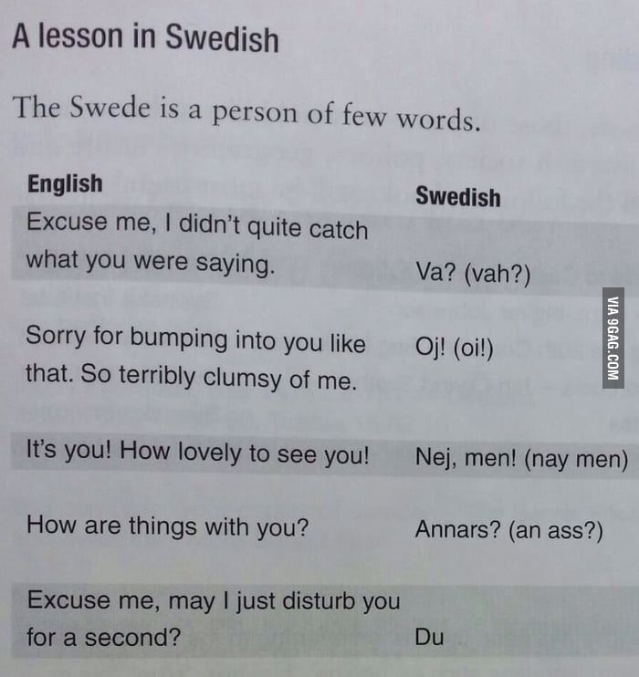 The swedish language