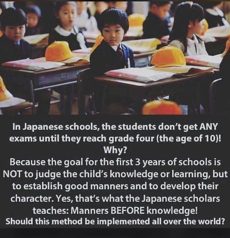 Manners before Knowledge