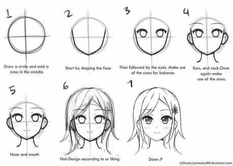How to draw manga: Head - 9GAG