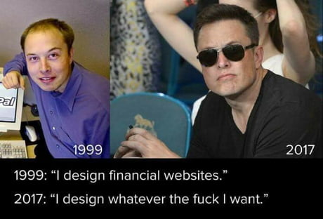 Elon Musk 18 year transformation
