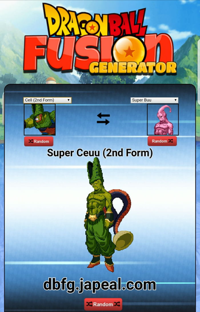 Buu X Cell - Dragon Ball Fusion Generator - 9GAG
