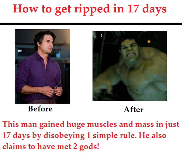 How to get ripped?