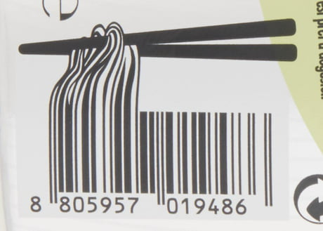 The barcode for this pack of noodles - 9GAG