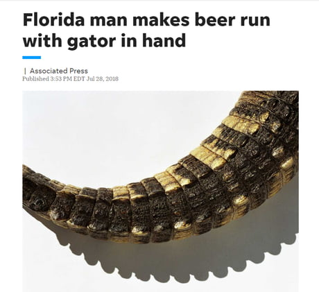 Lets make this a Meme, go to Google and Type Florida Man and