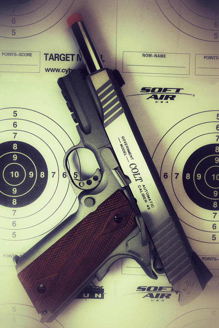 Full Metal Colt 1911 CO2 Blowback Airsoft Pistol - 9GAG