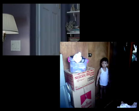 Watch this little child's reaction to a scary movie.