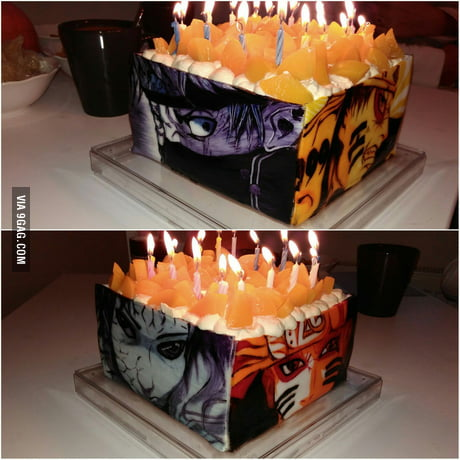 Sensational Just Got An Awesome Naruto Cake For My Birthday 9Gag Funny Birthday Cards Online Inifodamsfinfo
