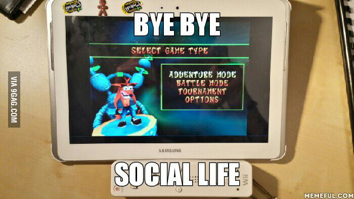 Android tab 2 + epsxe + wii remote + crash bash iso  90's kids will