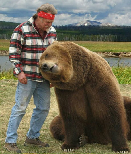 From 1 to 10 how majestic are my father and his bear (I paid a pro photographer to take the photo)