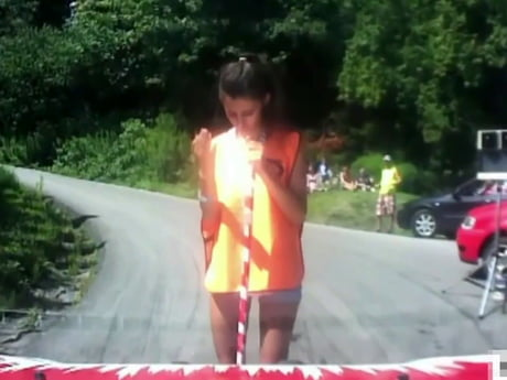 Cute rally start girl