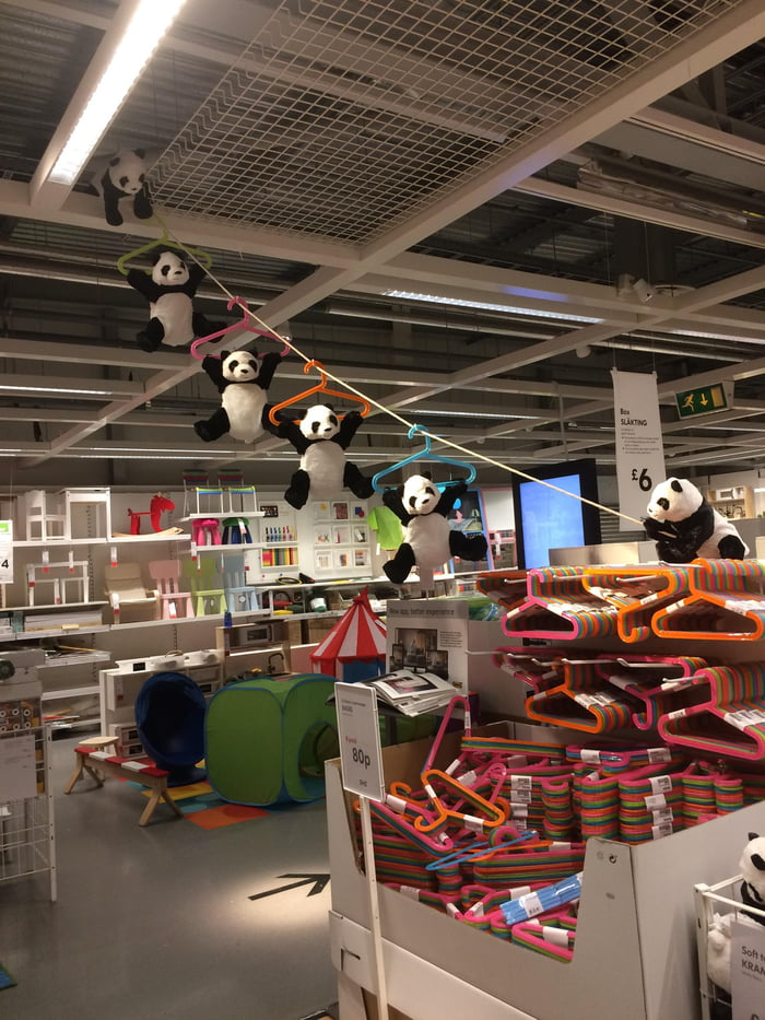 Panda getaway mission in IKEA