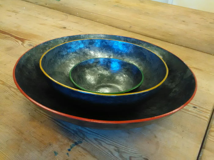 Hi im a Blacksmith student from Sweden. this was my first atempt to forge bowls. what do you think?
