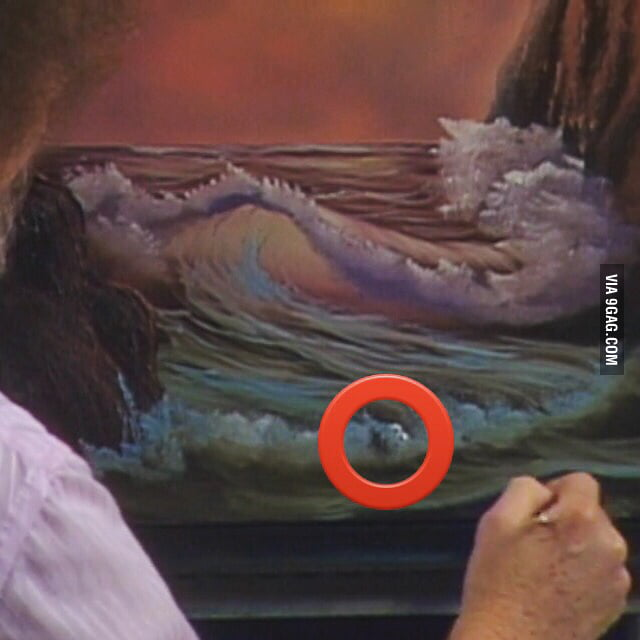 Just Watched Bob Ross Paint This Ocean Scenecouldnt Help But