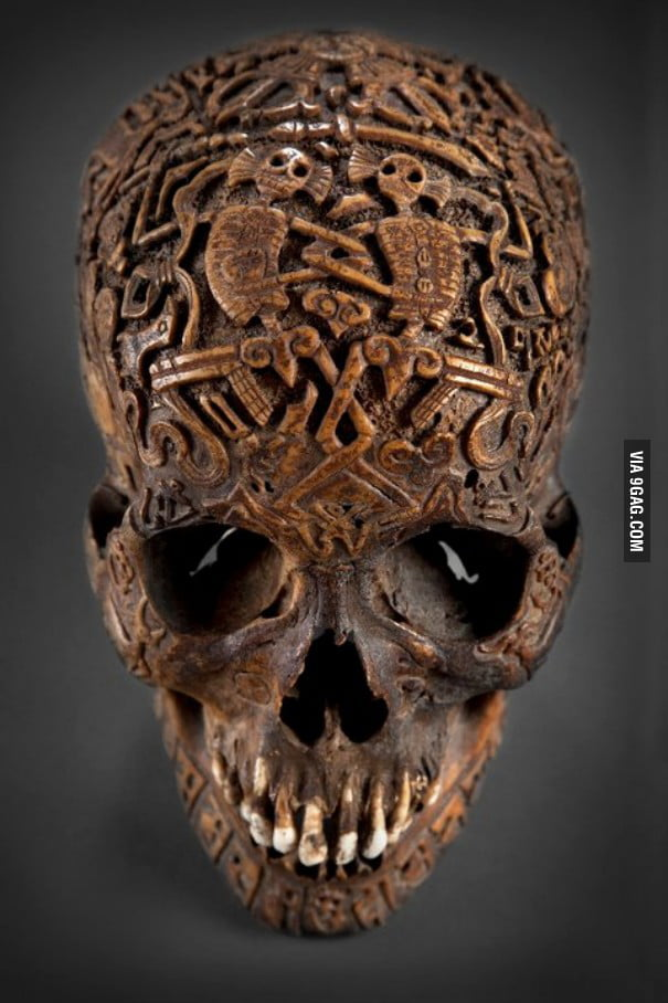 Tibetan skull carving
