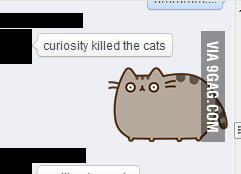 Pusheen Is Scared To Death 9gag