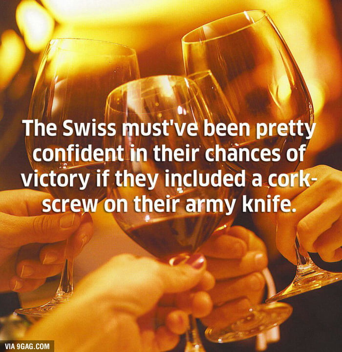 As a swiss...