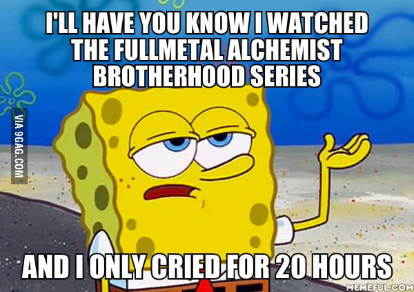 My reaction after watching fullmetal alchemist brotherhood - Fma funny pics ...