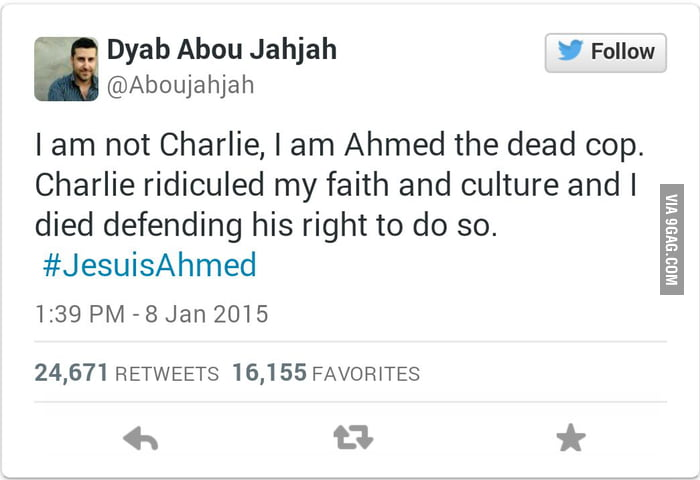 RIP to the 12 people who died in Paris... #JeSuisAhmed #JeSuisCharlie