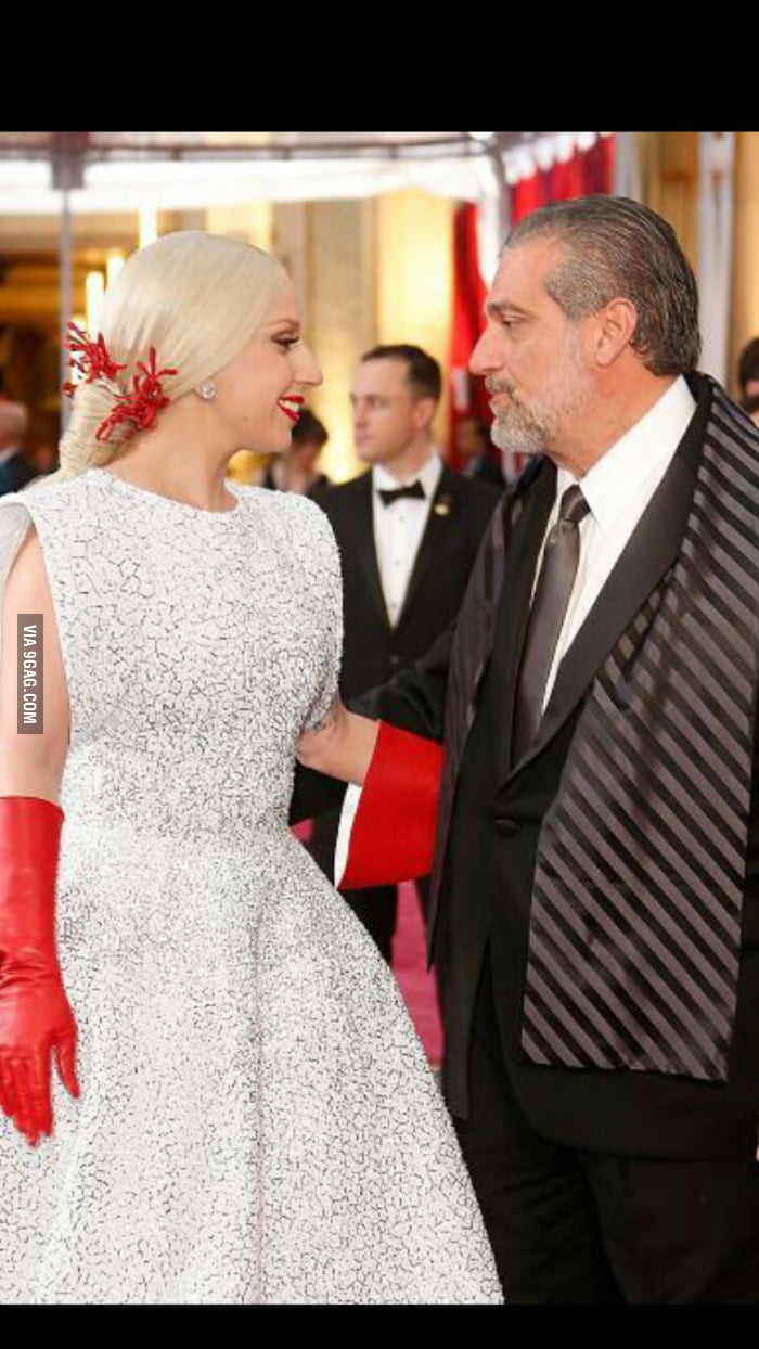 Lady Gaga and her father, Joe Germanotta  - 9GAG