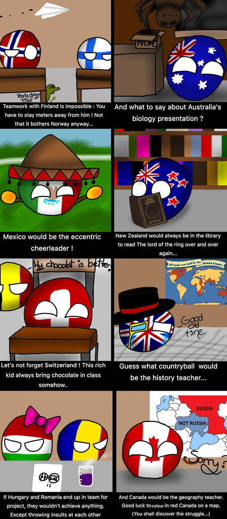 What if countryballs would attend school part 2!