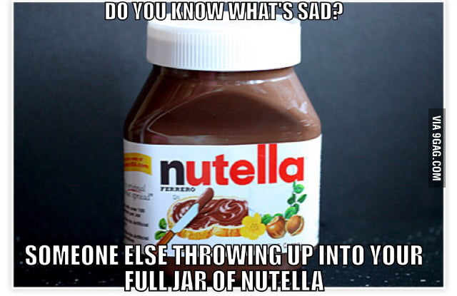 to the guy who complained about dropping a big jar of nutella i