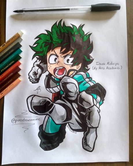 My Drawing Of Izuku Deku Midoriya From My Hero Academia