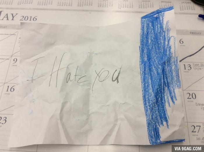 Second-grader received a rejection letter after confessing
