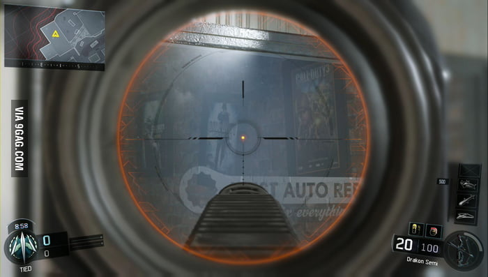 Old Call of Duty posters in Black Ops 3 Fringe map - 9GAG