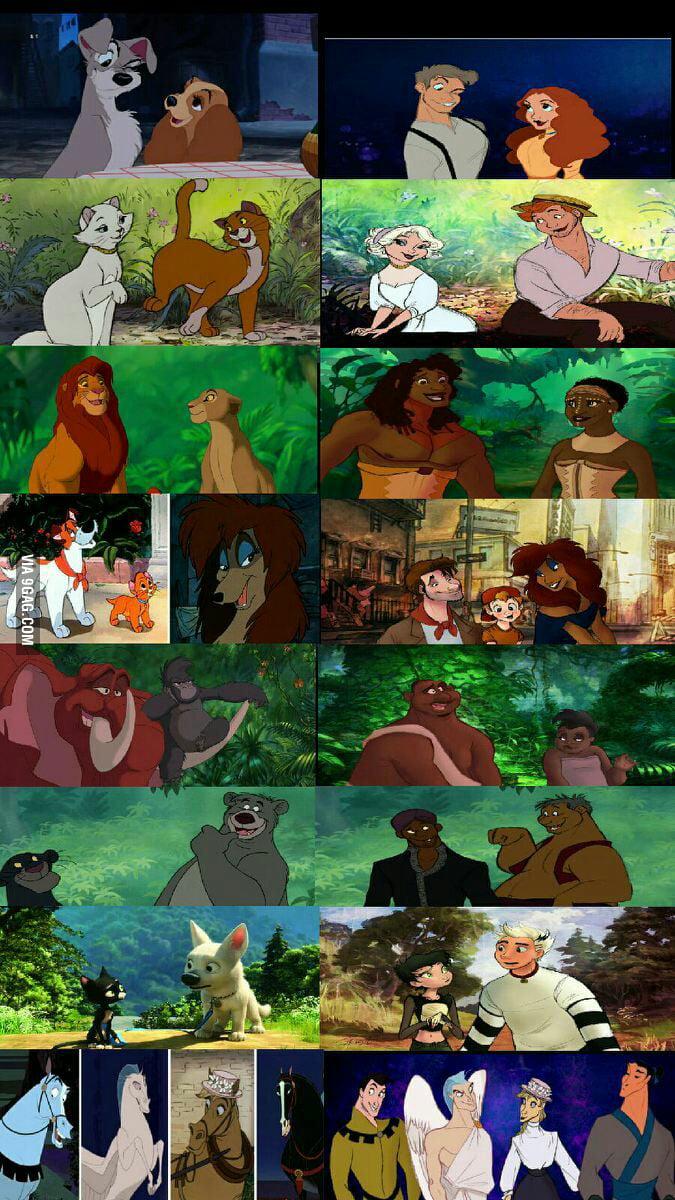 Disney Animal Characters as Humans - 9GAG