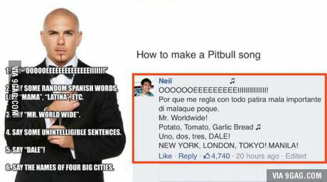 How to make a Pitbull song - 9GAG
