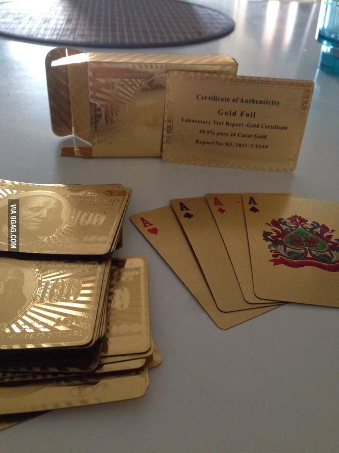 24 Carat Gold Foil Playing Cards
