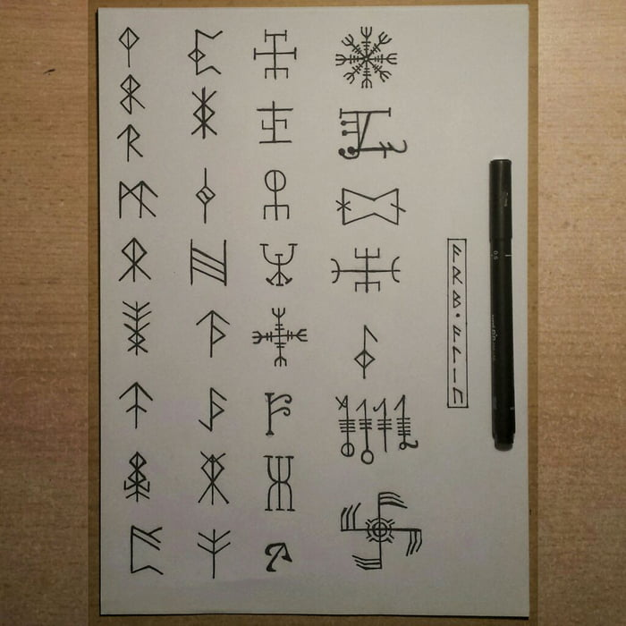I Made These Old Norse Symbols Because I Love Everything About