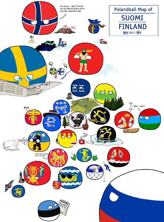 Polandball Map Of The World 2017.Polandball Map Of Finland 9gag