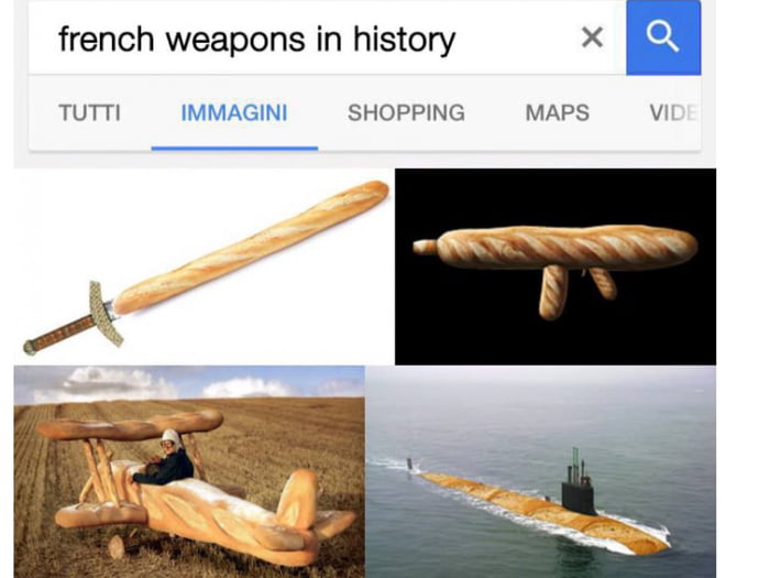 French weapons in history... - 9GAG