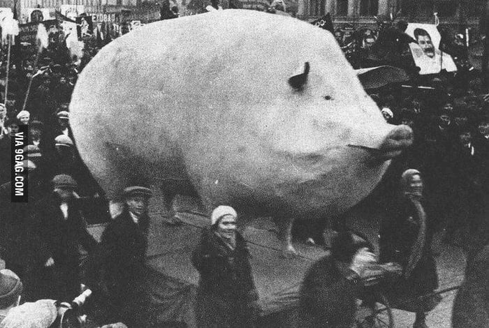 In Soviet Russia pig eats you.