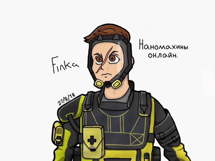 I drew Finka from R6 Siege - 9GAG