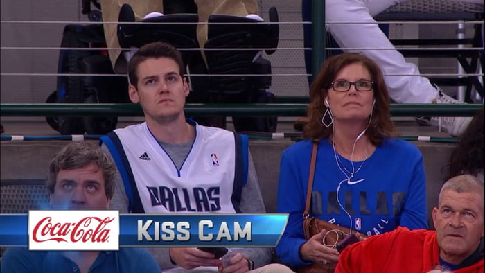 Another Mother And Son Kiss Cam