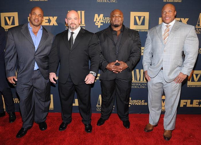 Bodybuilders In Suits