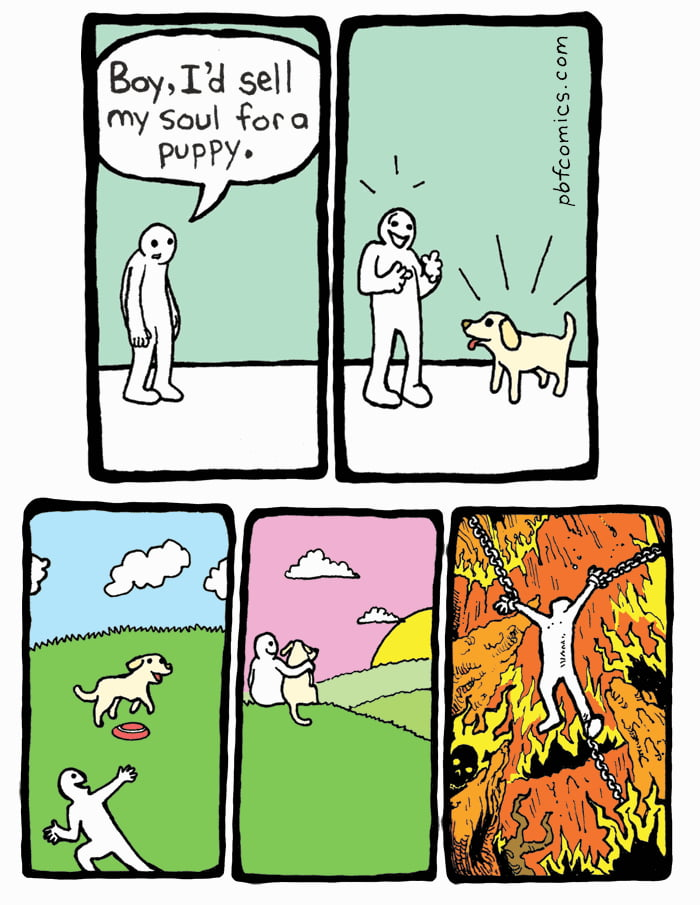 I'd sell my soul for a puppy - 9GAG