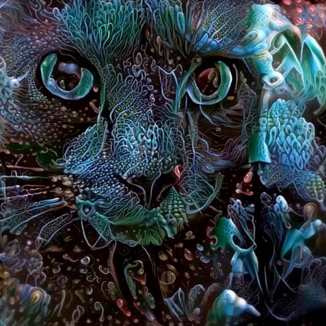 Psychedelic art of a cat