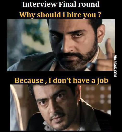 The Best Answer To A Job Interview - 9GAG