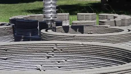 3D printing: concrete castle