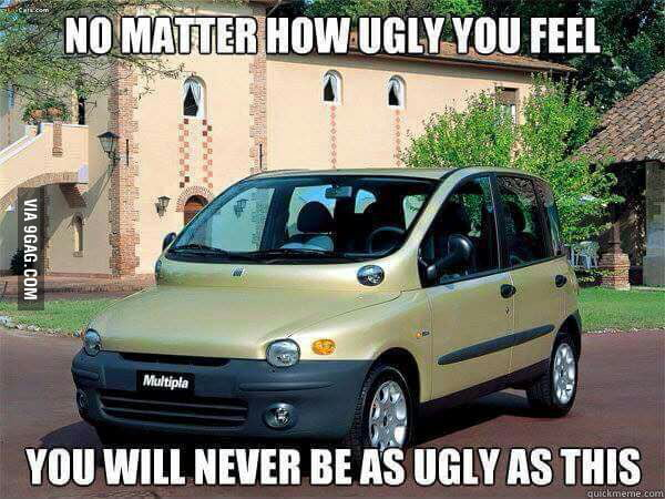fiat multipla beats all the ugly things 9gag. Black Bedroom Furniture Sets. Home Design Ideas