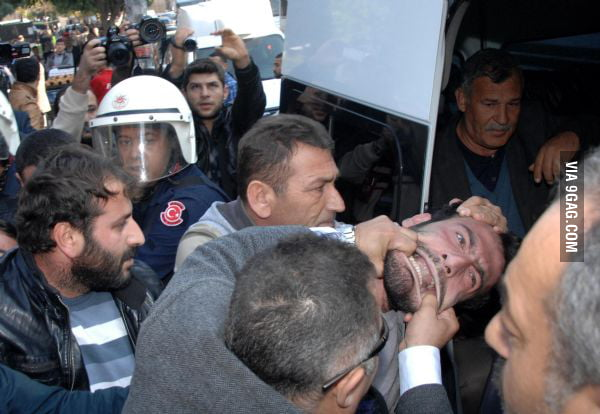 This picture is from the protests in Turkey.