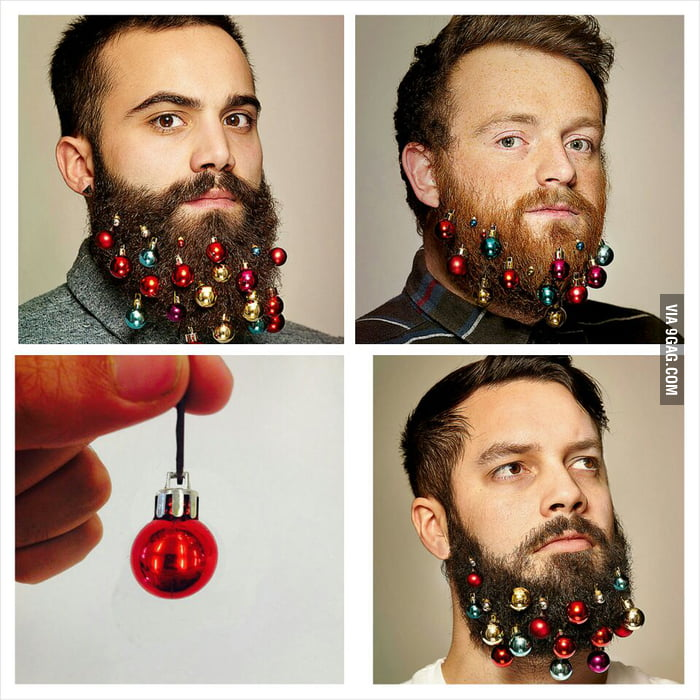 New amazing trend for us 9gaggers. Happy Christmas beard!